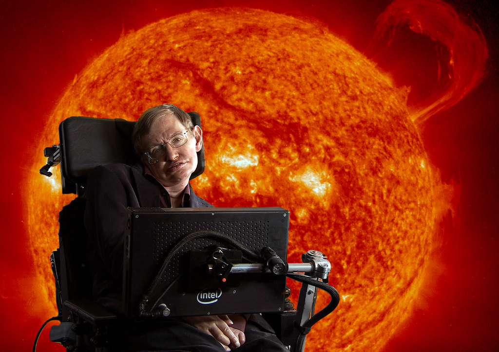 Stephen Hawking died 14 March 2018